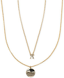 Ivanka Trump Gold-Tone 2-Pc. Set Initial and Disc Pendant Necklaces