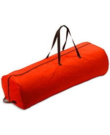 Red Rolling Storage Bag For Artificial Trees Up To 7.5' Tall