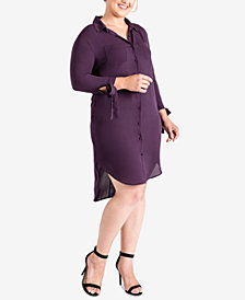 Standards and Practices Plus Size Georgette Shirtdress