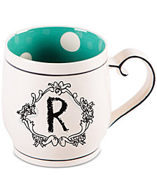 "Home Essentials Katie and Mandy Monogram ""R"" Mug"