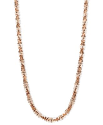 """14k Rose Gold Necklace, 20"""" Faceted Chain (1-1/2mm)"""