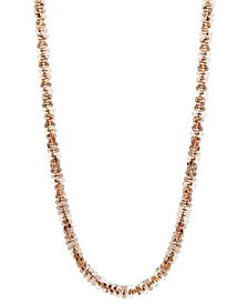 "14k Rose Gold Necklace, 16"" Faceted Chain (1-1/2mm)"