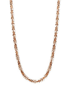 "14k Rose Gold Necklace, 18"" Faceted Chain (1-1/2mm)"