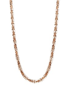 "14k Rose Gold Necklace, 20"" Faceted Chain (1-1/2mm)"
