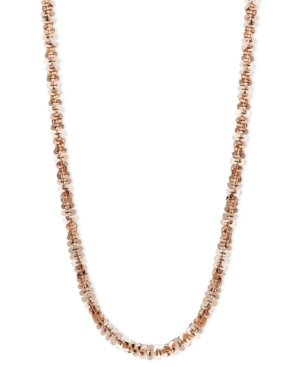 """14k Rose Gold Necklace, 18"""" Faceted Chain"""