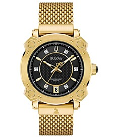 Women's Precisionist GRAMMY® Diamond-Accent Gold-Tone Stainless Steel Bracelet Watch 38mm