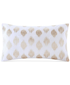 "INK+IVY Stella Embroidered-Dot 12"" x 20"" Decorative Pillow"
