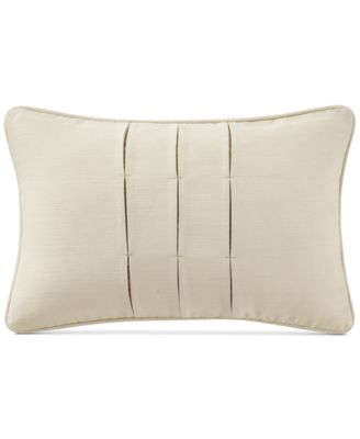 """Charlize Pleated Gold 12"""" x 18"""" Decorative Pillow"""