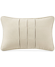 "Waterford Charlize Pleated Gold 12"" x 18"" Decorative Pillow"