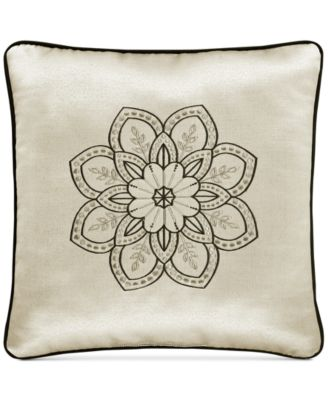 "Mirabella 18"" x 18"" Embroidered Decorative Pillow"