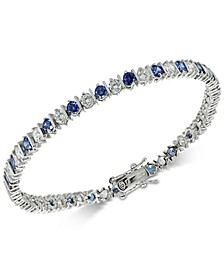 Blue Cubic Zirconia Tennis Bracelet in Sterling Silver, Created for Macy's