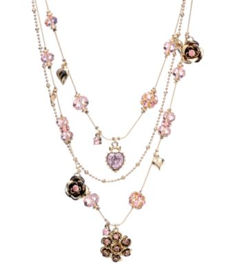 Image of Betsey Johnson Pink Crystal Illusion Necklace
