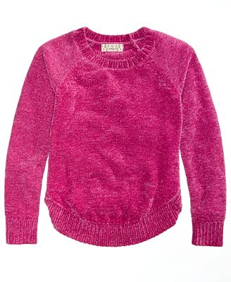 Pink Republic Chenille Scoop-Hem Sweater, Big Girls (7-16)
