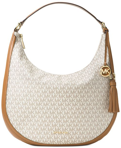 cc980cdca7c8 Michael Kors Signature Lydia Large Hobo   Reviews - Handbags ...