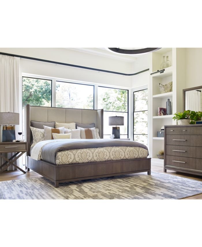 Furniture Rachael Ray Highline Upholstered Shelter Queen Bed & Reviews - Furniture - Macy's
