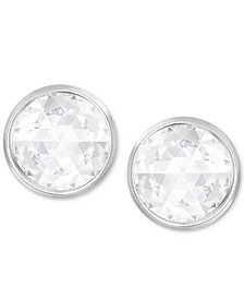 Swarovski Silver-Tone Crystal Reversible Stud Earrings