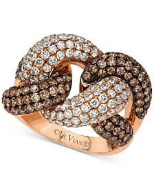 Le Vian Red Carpet® Diamond Knot Ring (3-1/2 ct. t.w.) in 14k Rose Gold