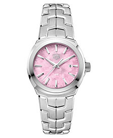 TAG Heuer Women's Swiss Stainless Steel Bracelet Watch 32mm