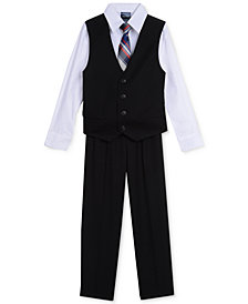 Nautica 4-Pc. Shirt, Vest, Pants & Tie Set, Little Boys