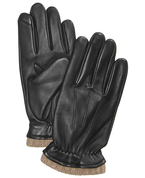 921379fc5b521 Club Room Men's Cashmere Lined Leather Gloves, Created for Macy's