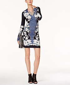Just Cavalli Mixed-Print Bodycon Dress