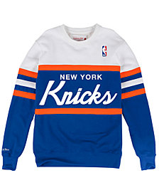 Mitchell & Ness Men's New York Knicks Head Coach Crew Sweatshirt