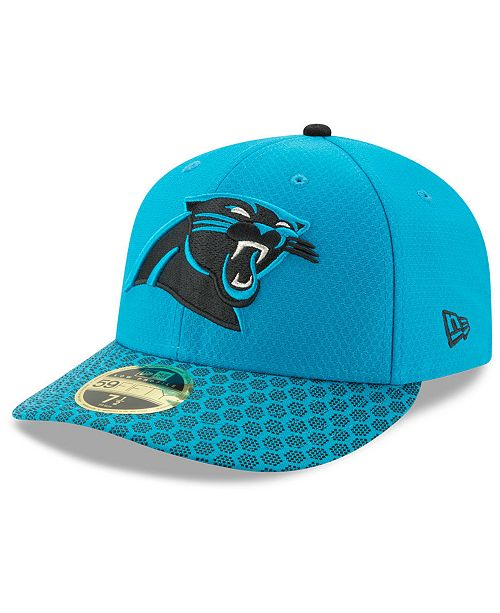 96c293b74b75b New Era Carolina Panthers Sideline Low Profile 59FIFTY Fitted Cap ...