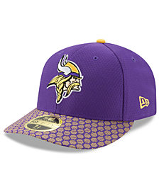 New Era Minnesota Vikings Sideline Low Profile 59FIFTY Fitted Cap
