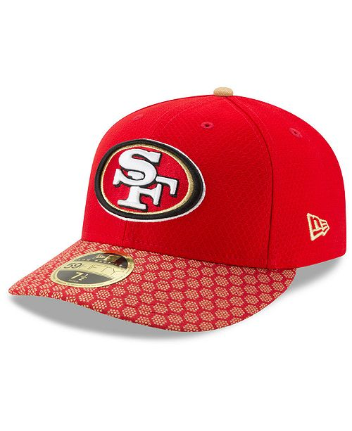 New Era San Francisco 49ers Sideline Low Profile 59FIFTY Fitted Cap ... 65b02daa018