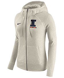 Nike Women's Illinois Fighting Illini Gym Vintage Full-Zip Hoodie