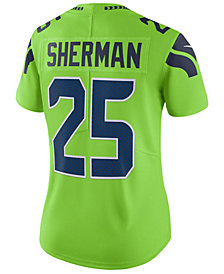 Nike Women's Richard Sherman Seattle Seahawks Color Rush Limited Jersey