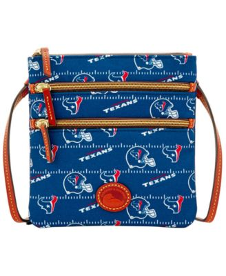 Houston Texans Nylon Triple Zip Crossbody