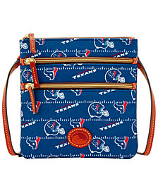 Dooney & Bourke Houston Texans Nylon Triple Zip Crossbody