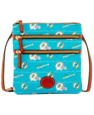 Miami Dolphins Nylon Triple Zip Crossbody