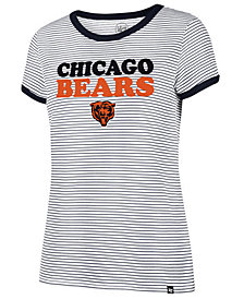 '47 Brand Women's Chicago Bears Striped Ringer T-Shirt