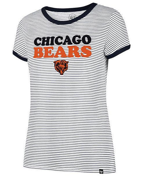 '47 Brand Women's Chicago Bears Striped Ringer T-Shirt