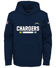 Nike Los Angeles Chargers Pullover Therma Hoodie, Big Boys (8-20)