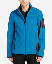 DKNY Men's Mixed-Media Performance Jacket
