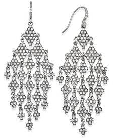 I.N.C. Silver-Tone Crystal Chandelier Earrings, Created for Macy's