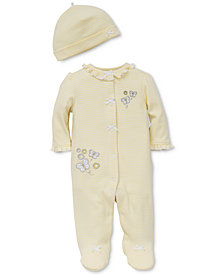 Little Me Baby Girls 2-Pc. Hat & Footed Butterfly Coverall Set