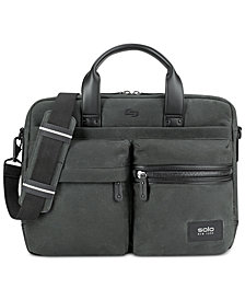 Solo Men's Hamish Waxed Cotton Briefcase