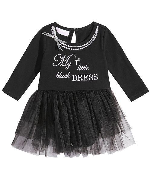d69955cdf27b Bonnie Baby 1st Little Black Dress Bodysuit Dress, Baby Girls ...