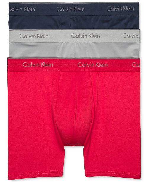 f4b033ca12c9 Calvin Klein Men's Microfiber Stretch Boxer Brief 3-Pack & Reviews ...