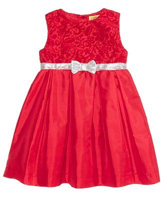 Penelope Mack Sequin-Bow Dress, Baby Girls (0-24 months)