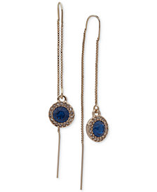 Ivanka Trump Gold-Tone Stone Halo Threader Earrings