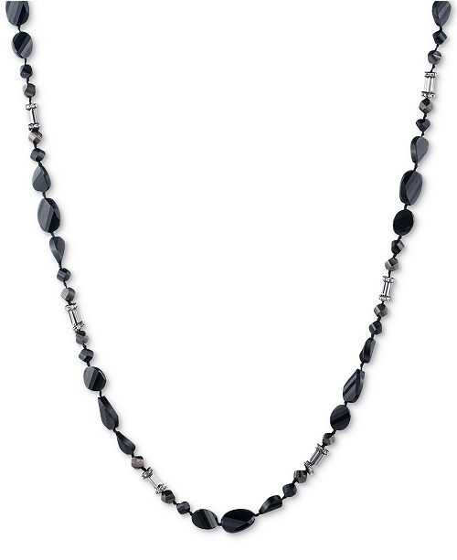 Carolee Two-Tone Pavé Long Beaded Necklace