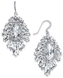 Silver-Tone Crystal Cluster Drop Earrings, Created for Macy's