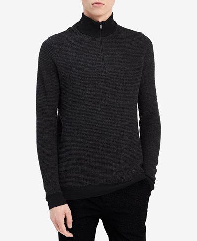 Calvin Klein Men's Merino Quarter-Zip Sweater