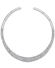 Joan Boyce Silver-Tone Pavé Collar Necklace