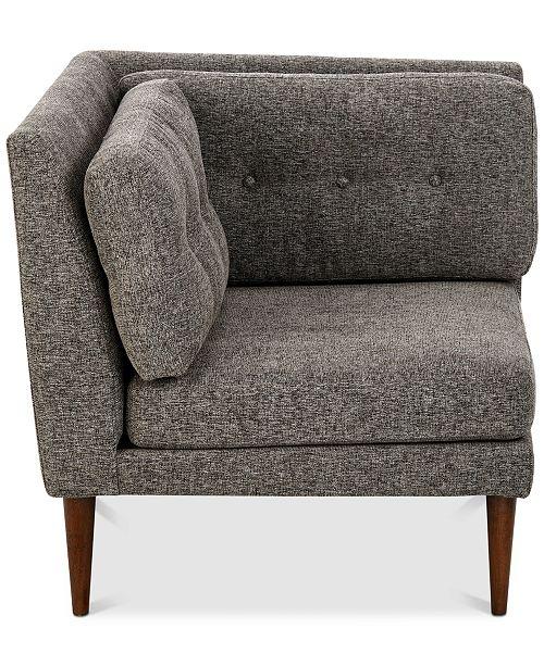 sunday theory alexandra corner chair quick ship furniture macy s